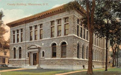 County Building Watertown, New York Postcard