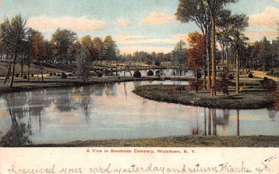 Brookside Cemetery Watertown, New York Postcard