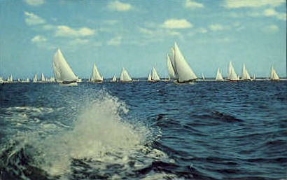 Sailboat Racing - Long Island, New York NY Postcard