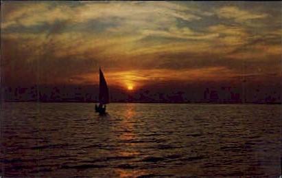 Beautiful Sunset - Long Island, New York NY Postcard
