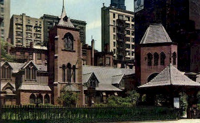 The Little Church Around the Corner - New York City Postcards, New York NY Postcard
