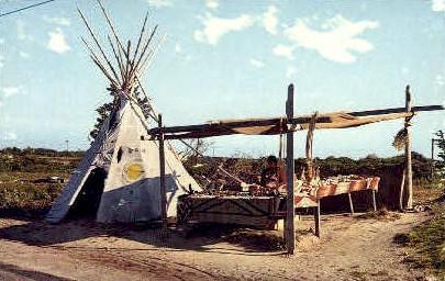 Shinnecock Indians, Tepee  - Long Island, New York NY Postcard