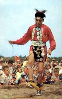 Shinnecock Indians, Hoop Dance - Long Island, New York NY Postcard