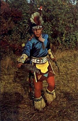 Shinnecock Indians, Turkey Dance - Long Island, New York NY Postcard