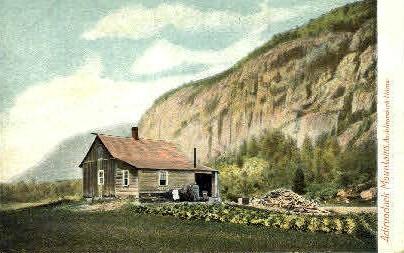 Adirondack Home - Adirondack Mts, New York NY Postcard