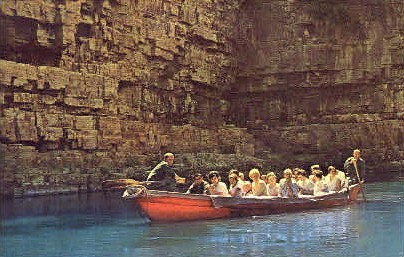 In The Boat Ride - Ausable Chasm, New York NY Postcard