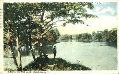Scene on the Lake - Hudson, New York NY Postcard