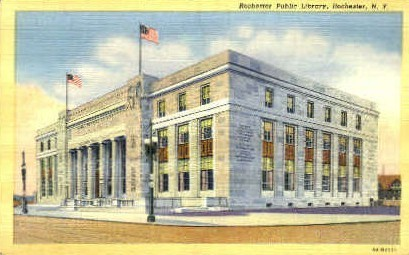 Rochester Public Library - New York NY Postcard