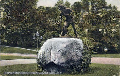 Indian Hunter, Cooper Park - Cooperstown, New York NY Postcard