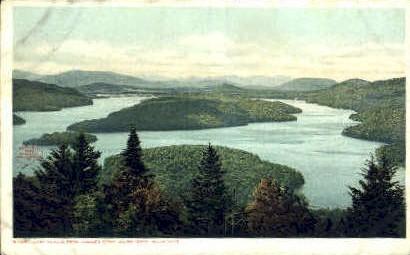 Lake Placid from Eagle's Eyrie - Adirondack Mts, New York NY Postcard