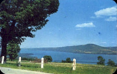 Bare Hill on Canandaigua Lake - New York NY Postcard