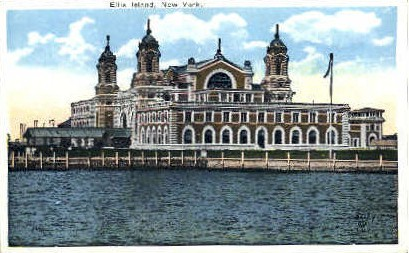 Immigration Depot - Ellis Island, New York NY Postcard