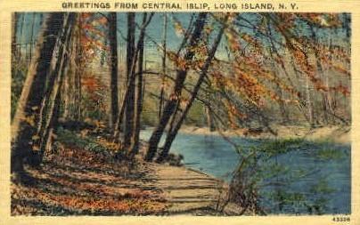Central Islip - Long Island, New York NY Postcard
