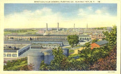 Bird's Eye View General Electric Co. - Schenectady, New York NY Postcard
