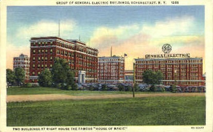 Groups of General Electric Buildings - Schenectady, New York NY Postcard