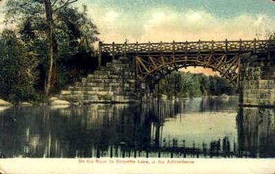 On the Road to Raquette Lake - Adirondack Mts, New York NY Postcard