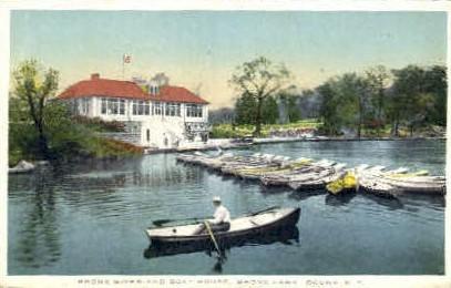Bronx River, Bronx Park - New York NY Postcard