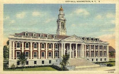 City Hall - Schenectady, New York NY Postcard
