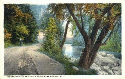 Mountain Road & Spook Rock - Hudson, New York NY Postcard