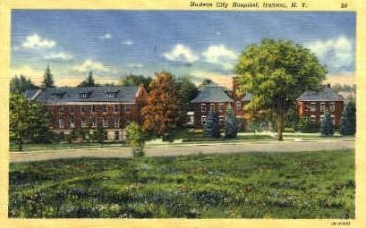 Hudson City Hospital - New York NY Postcard