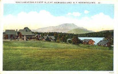 Eagle Lake and Blue Mt. - Adirondack Mts, New York NY Postcard