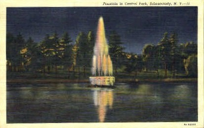 Central Park - Schenectady, New York NY Postcard
