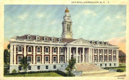 City Hall - Schenectady, New York NY Postcard