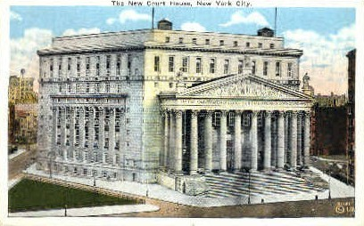 The New Court House - New York City Postcards, New York NY Postcard