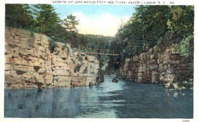 Long Rapids - Ausable Chasm, New York NY Postcard