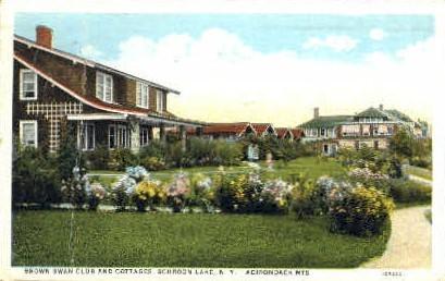 Brown Swan Club, Schroon Lake - Adirondack Mts, New York NY Postcard