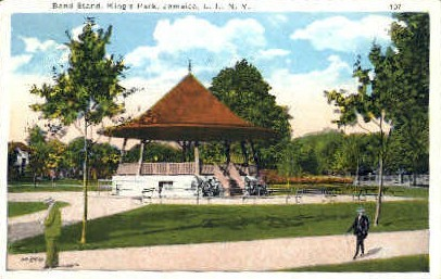 Band Stand, King's Park, Jamaica - Long Island, New York NY Postcard