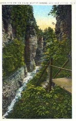 Mystic Gorge - Ausable Chasm, New York NY Postcard
