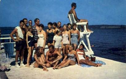 College Club Beach - Chautauqua, New York NY Postcard