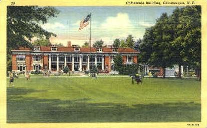 Colonnade Building - Chautauqua, New York NY Postcard