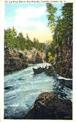 At Landing Below Big Rapids - Ausable Chasm, New York NY Postcard