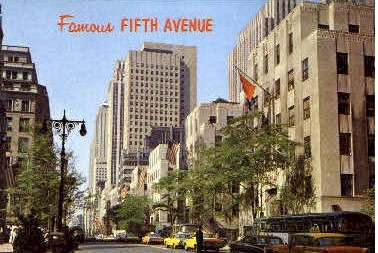5th Avenue - New York City Postcards, New York NY Postcard