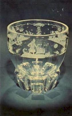 The Explorers, Steuben Glass - Corning, New York NY Postcard