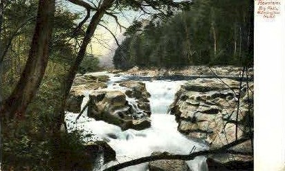 Big Falls, Wilmington North - Adirondack Mts, New York NY Postcard