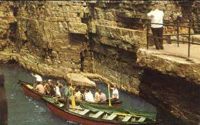 Start of Boat Ride - Ausable Chasm, New York NY Postcard