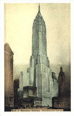 Bank of Manhattan Building - New York City Postcards, New York NY Postcard