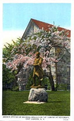 Bronze Statue of Michael Angelo - East Aurora, New York NY Postcard