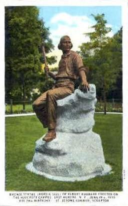Bronze Statue of Elbert Hubbard - East Aurora, New York NY Postcard