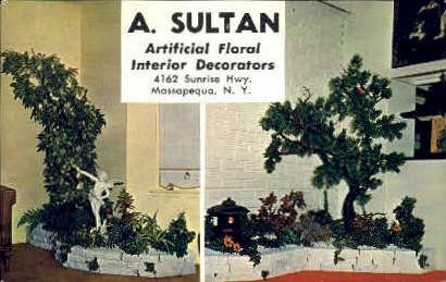 A. Sultan Artificial Floral Decorators - Massapequa, New York NY Postcard