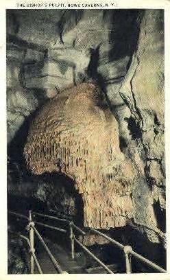 The Bishops Pulpit - Howe Caverns, New York NY Postcard