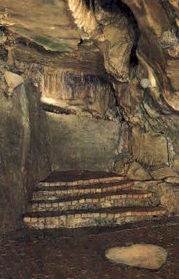 Balcony of Titans Temple - Howe Caverns, New York NY Postcard