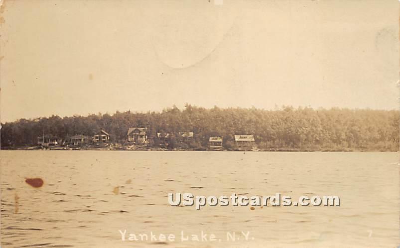 Lake View - Yankee Lake, New York NY Postcard