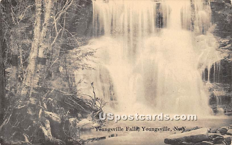 Youngsville Falls - New York NY Postcard