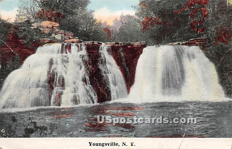 Falls - Youngsville, New York NY Postcard