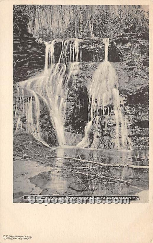 Indian Falls - Youngsville, New York NY Postcard
