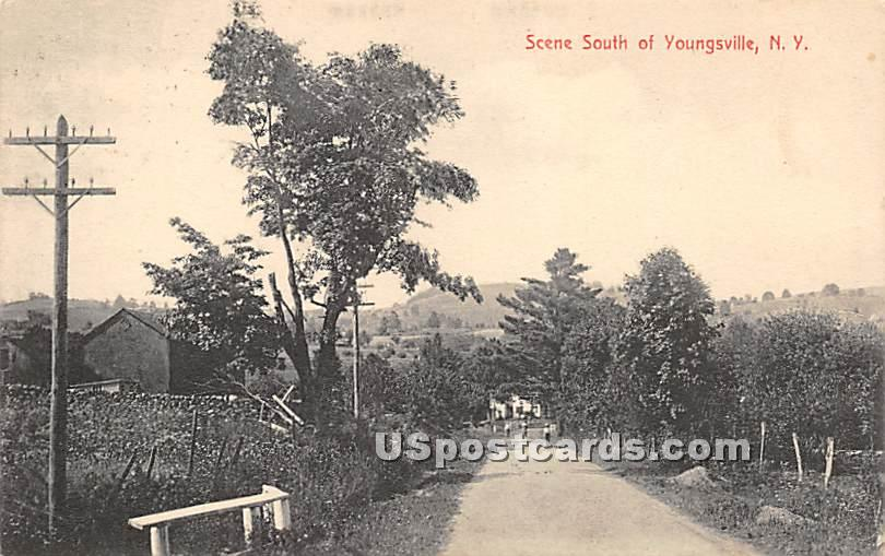 Scene South - Youngsville, New York NY Postcard